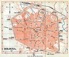 Pianta di Bologna.Carta Topografica,Geografica.Stampa Antica + Passepartout.1891