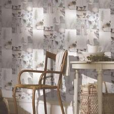 ARTHOUSE RETREAT COLLAGE PATTERN PHOTO LEAF WOOD ROSES WALLPAPER ROLL