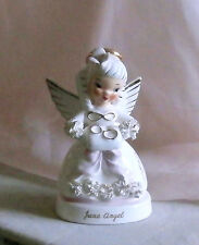NAPCO Birthday Angel June Bride with wedding Rings Spaghetti Angel