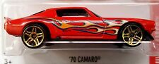 Hot Wheels 2016 HW Flames '70 Camaro Red 1970 Chevy Chevrolet Heat Fleet GM 1:64