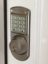 "ELECTRONIC KEYLESS DEADBOLT DOOR LOCK - ""Satin Nichel"""