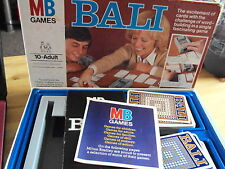 VINTAGE MB BOARD / CARD GAME: BALI COMPLETE VGC 1+ PLAYERS FREE UK P&P