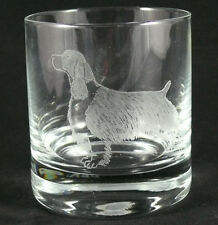 AMERICAN COCKER SPANIEL HAND ENGRAVED WHISKY GLASS - 1994