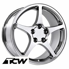 "18"" 18x9.5"" inch Corvette C5 Y2K 2000 OE Replica Chrome Wheels Rims fit C4 88-96"