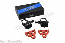 Exustar PR15 Black SPD-SL Clipless Road Bike Pedals w/Cleats fit Shimano SM-SH11