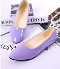 New Fashion Womens Casual Ballet Flats Boat Slip On Loafers Single Leather Shoes