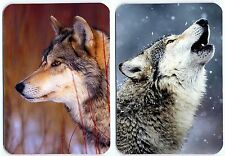 Wolf fridge magnet 2 pcs