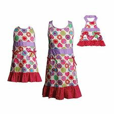 Dollie & Me Girl Mommy and Doll Matching Cookie Apron Clothes Set American Girl