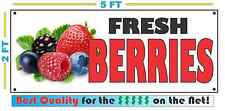 Full Color FRESH BERRIES BANNER Sign NEW XL Larger Size Best Quality for the $$$