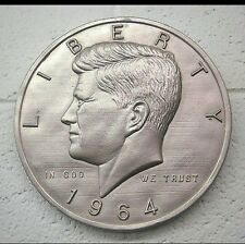 Concrete mold 1964 half dollar plaque. Ready to ship latex only