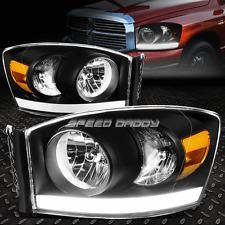 BLACK HOUSING HEADLIGHT+AMBER CORNER LIGHT+LED DRL FOR 06-08 RAM 1500/2500/3500