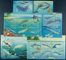 GRENADA 2001 Wale Whales Meerestiere 4769-86 + Bl.653-656 ** MNH