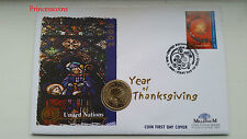 MILLENNIUM 2000*YEAR OF THANKSGIVING 1995 UNITED NATION £2 TWO POUND COIN COVER