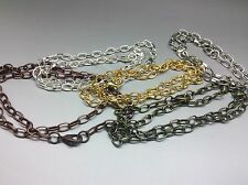 10 x Ready made mixed chain charm bracelets for Diy jewellery making Approx 8in