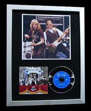 STATUS QUO+SIGNED+FRAMED+WORLD+CAROLINE+DOWN=100% AUTHENTIC+EXPRESS GLOBAL SHIP