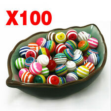 100Pcs Balls Spacer Beads Jewelry Making Necklace DIY Rainbow Colors