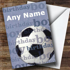 Football Fan Boy Personalised Birthday Greetings Card