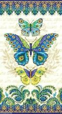 "Dimensions Counted Cross Stitch Kit 8"" x 15"" ~ PEACOCK BUTTERFLIES #70-35323"