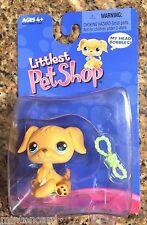 RARE Littlest Pet Shop GOLDEN RETRIEVER Dog Blue Eyes 21 LPS Puppy 2004 NEW NIP!