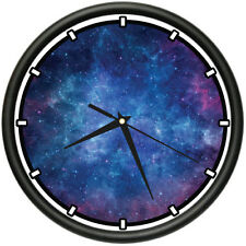 NEBULA Wall Clock space stars galaxy cool gift