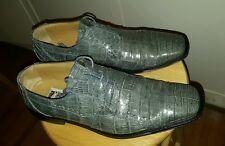 David Eden GRAY GREY CROCODILE (alligator) size 13 men's  shoes FREE SHIPPING