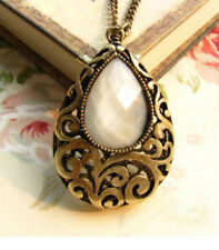 Fashion Charm jewelry Hollow drop gem vintage long Pendant Chain Necklace N97
