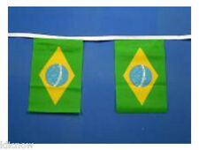 Brazil Flag Bunting 9m 30ft Long with 30 Cloth fabric Flags