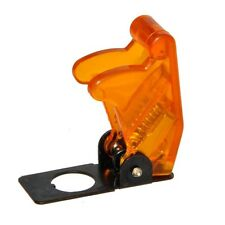 Flip Up Aircraft Style 12v/24v Toggle Switch Cover Guard - TRANSPARENT ORANGE