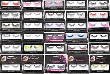 24x False Fake Eyelashes With Glue Wholesale Job Lot Clearance Make Up Cosmetics