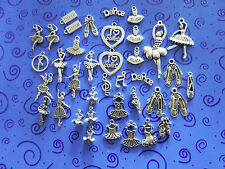 """I LOVE BALLET"" 38 SP Charms:Ballerinas Slippers Dancers Tutus ++ free ship"