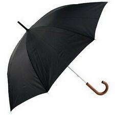 Mens Long Walking Length Umbrella Wood Handle Black by Incognito