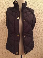 Marks & Spencer Per Una Aubergine-Brown Gilet. Size Small.