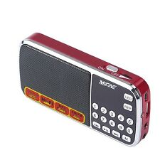 Mifine Mini Digital Portable Speaker Am/fm Pocket Radio USB Micro SD Card MP3 Pl