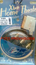 CAVO SCART 6 RCA A/V IN OUT COMPLETE HI­ QUALITY ALTA QUALITA' 1,5m MG GT-50370