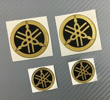 Set 4 Adesivi Diapason GOLD  & BLACK 3D resinato 45 mm e 25 mm R1 R6 Racing