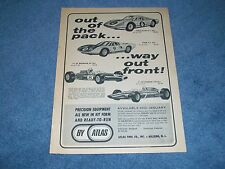 "1966 Atlas Slot Cars Vintage Ad ""Out of the Pack... Way Out Front!"" Ford GT F1"