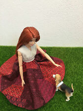 OOAK Barbie Made To Move Red Dress Tica Couture Fashion Clothes