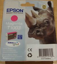 GENUINE EPSON T1003 MAGENTA (red) cartridge vacuum sealed ORIGINAL OEM RHINO INK