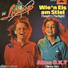 """7"""" LOLLIPOPS Wie'n Eis am Stiel SWINGING BLUE JEANS Tonight's The Night POLYDOR"""