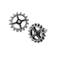 GENUINE Alchemy Gothic Stud Earrings - Industrilobe | Men's Ladies Steampunk