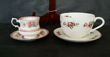 Crownford QUEENS & Crown Dorset Staffordshire Tea / Coffee Cups w/Saucers Lot