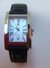 Wrist Watch Gift Set Black Leather Strap with Tie & Cuff links xmas christmas