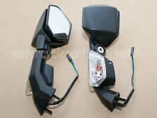 Black RearView Mirrors w/ Turn Signal For Kawasaki Ninja ZX 10R 04-10 ZX6R 05-08