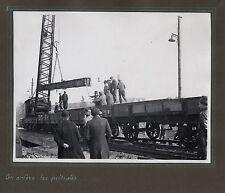 PHOTO ANCIENNE Chemins de fer Élargissement du pont Clos-Montholon 1935 Rails