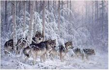 Larry Fanning - Crystal Forest Gray Wolves AP - Artist Proof Ltd Ed Lithograph