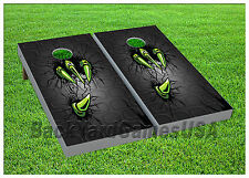 Green Claw CORNHOLE BEANBAG TOSS GAME w Bags Game Board Halloween Scary  Set 644