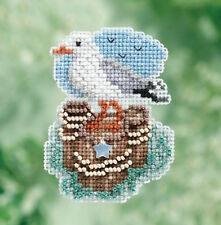 10% Off Mill Hill Spring Bouquet Collection X-stitch/Bead Kit - Seagull