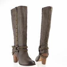 Women's Not Rated El Dorado Shoes Brown Synthetic Knee High Boots Size 7 M NEW!