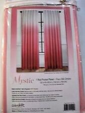 "NEW Mystic Pink Faux Silk Pink Ombre 63"" L Curtain Panel FREE SHIPPING"