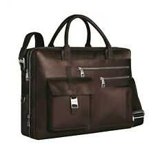 Piquadro Frame brown expandable computer briefcase w/ 2 pouch CA1429FR/M
